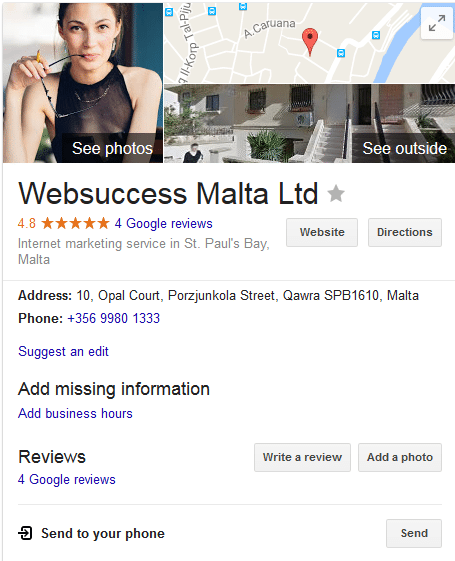 google places ranking in Malta